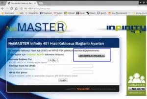 NetMaster İnfinity 401 Modeminde Port Açma_resim_3