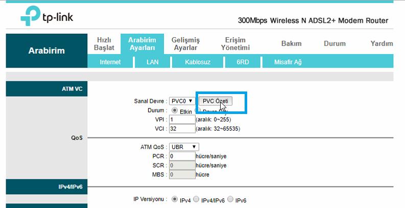 TP-Link TD-W8961ND Port_Yönlendirme_Resimli Anlatım_2