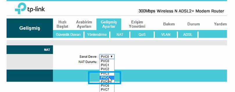 TP-Link TD-W8961ND Port_Yönlendirme_Resimli Anlatım_5
