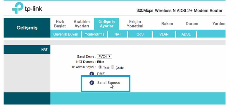 TP-Link TD-W8961ND Port_Yönlendirme_Resimli Anlatım_6