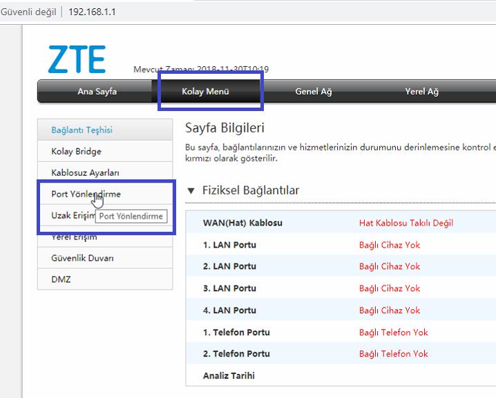 ZTE zxhn H298A Port Açma Resimli Anlatım_4