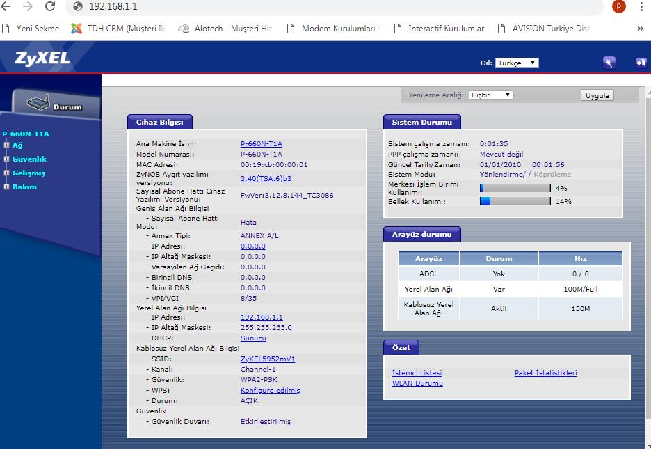ZYXEL P-660R-T1 Modem Port Açma İşlemi Nasıl Yapılır_2