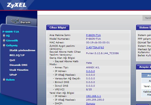 ZYXEL P-660R-T1 Modem Port Açma İşlemi Nasıl Yapılır_3